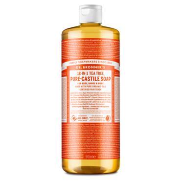 Dr Bronners Tea Tree Pure Castille Liquid Soap 946ml