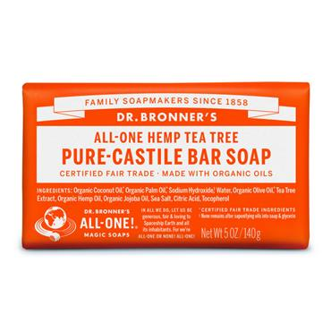 Dr. Bronner's Tea Tree Bar Soap 140g