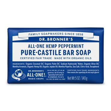 Dr. Bronner's Peppermint Bar Soap 140g