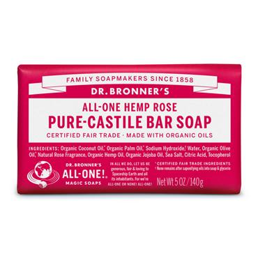 Dr. Bronner's Rose Bar Soap 140g