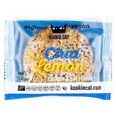 Kookie Cat Chia Lemon Cashew Oat Cookie 50g