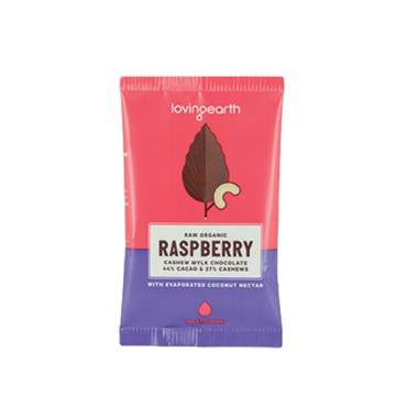 Loving Earth Organic Vegan Raspberry Cashew 30g