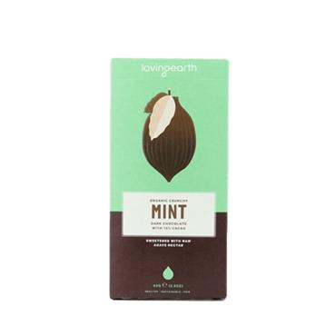 Loving Earth Organic Vegan Crunchy Mint Dark Chocolate 80g