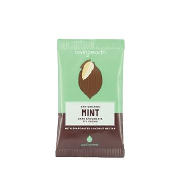 Loving Earth Organic Vegan Mint Dark Chocolate 30g