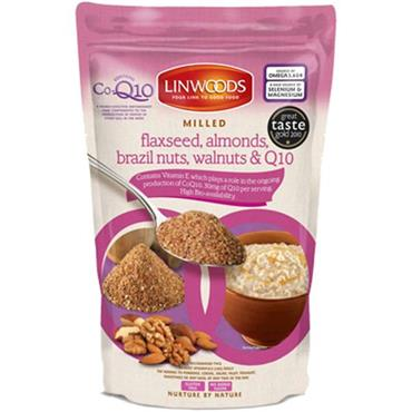 Linwoods Milled Flaxseed Walnuts Brazil Nuts Almonds & Q10 360g