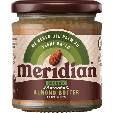 Meridian Organic Smooth Almond Butter (No Salt) 170g
