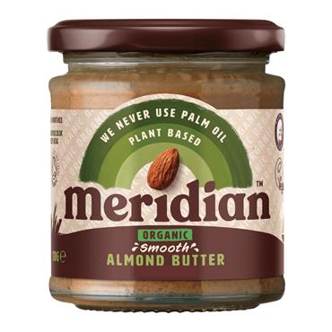 Meridian Organic Smooth Almond Butter (with a pinch of salt) 170g