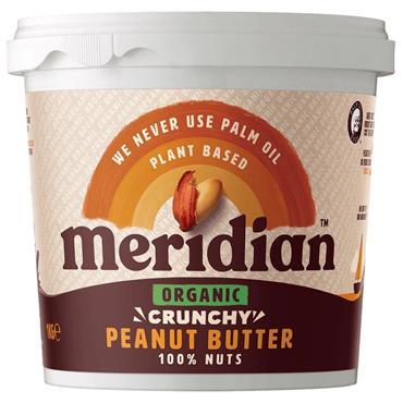Meridian Organic Crunchy Peanut Butter (No Salt) 1kg