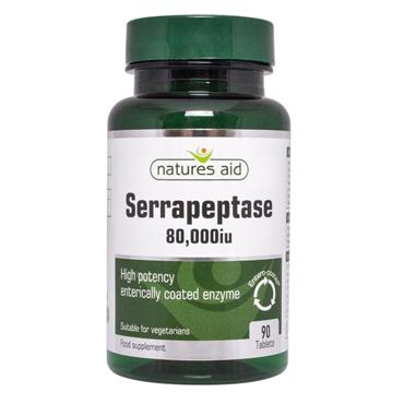 Natures Aid Serrapeptase 80,000IU 90 Tablets