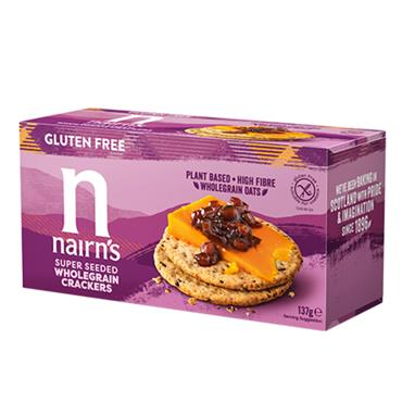 NAIRNS Gluten Free SUPERSEED CRACKERS 137G