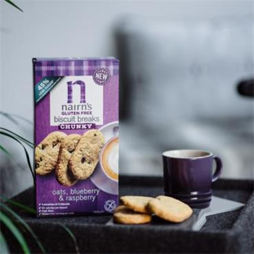 Nairn's Gluten Free Blueberry & Raspberry Chunky Biscuits 160g