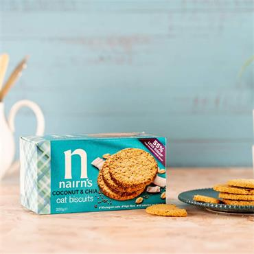 NAIRNS COCO CHIA BISCUITS 200g