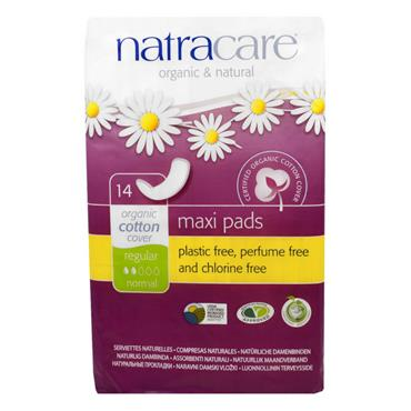 Natracare Maxi Pads - Regular 14 Pads