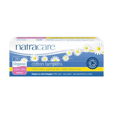 Natracare Super Plus Tampons Without Applicator - 20 tampons