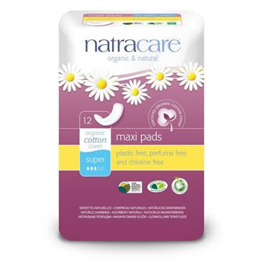 Natracare Super Press On Towels 12s
