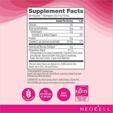NEOCELL Collagen & Vitamin C Pomegranate 473ml