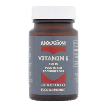 Nourish Vitamin E 400 IU Mixed Tocopherols 30 Capsules