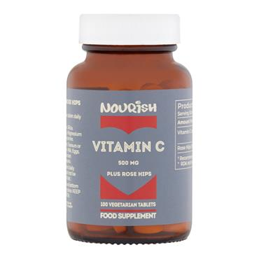 Nourish Vitamin C 500 mg plus Rose Hips 100 Tablets
