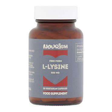 Nourish L-Lysine 500 mg 50 Capsules