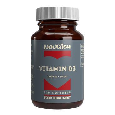 Nourish Vitamin D3 2000iu SoftGels 120s