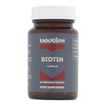 Nourish Biotin 5000ug Veg Caps 60s