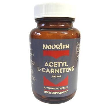 Nourish Acetyl L Carnitine 500mg 30s