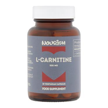 Nourish L-Carnitine 500mg Veg Caps 30s