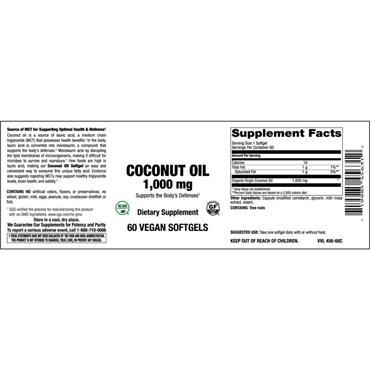 Nourish Coconut Oil 1000mg 60 Caps