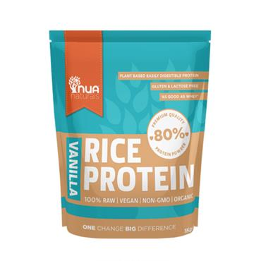 NUA Naturals Natural Rice Protein Powder Vanilla 1kg
