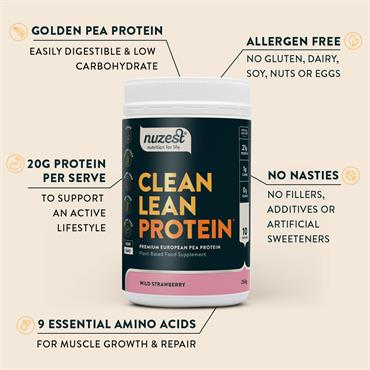 Nuzest Clean Lean Protein Strawberry 500g