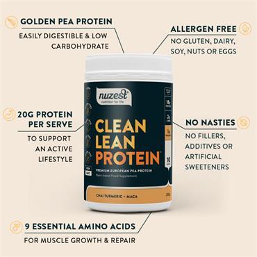 Nuzest Chai Turmeric Maca Clean Lean Protein 500g
