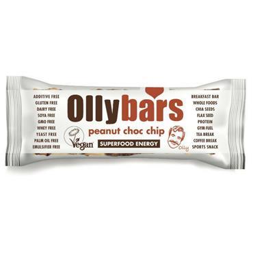 Ollybars Peanut Choc Chip Bar 60g