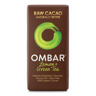 Ombar Organic Lemon & Green Tea Raw Chocolate Bar 35g