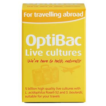 Optibac Live Cultures For Travelling Abroad 20 capsules