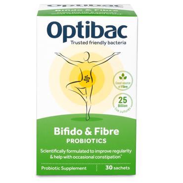 Optibac Live Cultures Bifidobacteria & fibre 30s