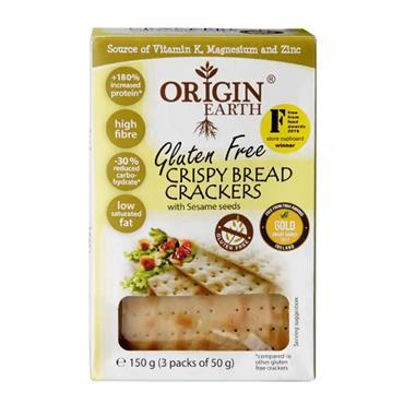 Origin Earth Gluten Free Crispbread Crackers with Sesame 150g