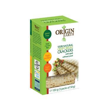 Origin Earth Spelt Crackers 150g