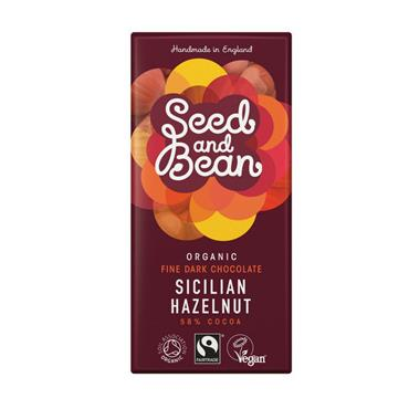 Seed & Bean Sicilian Hazelnut Fine Dark Chocolate Bar (58% Cocoa) 85g