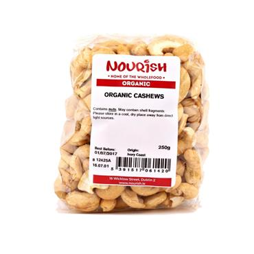Nourish Organic Cashews Whole