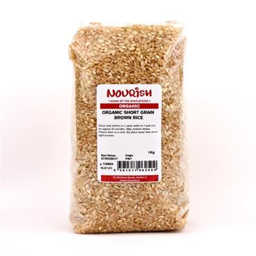 Nourish Organic Short Grain Rice Brown 1Kg
