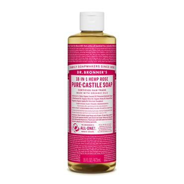 Dr. Bronner's Rose Castile Liquid Soap