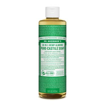 Dr Bronner's Almond Liquid Castile Soap