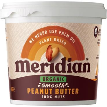Meridian Organic Smooth Peanut Butter (no salt)