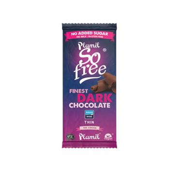 Plamil No Added Sugar Plain Chocolate Bar