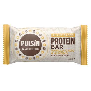Pulsin Vanilla Choc Chip Protein Snack Bar 50g