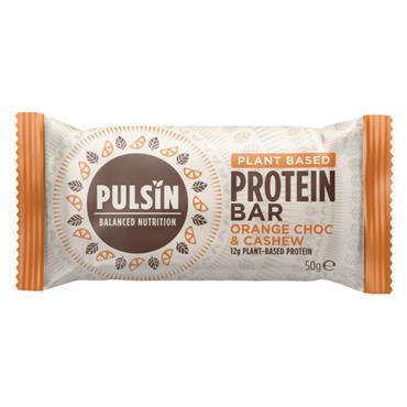 Pulsin Orange Chocolate Chip Protein Snack Bar 50g