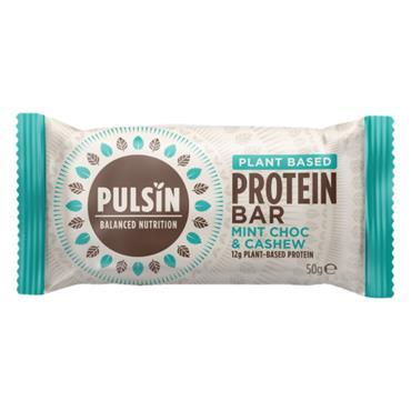 Pulsin Mint Choc Chip Protein Snack Bar 50g