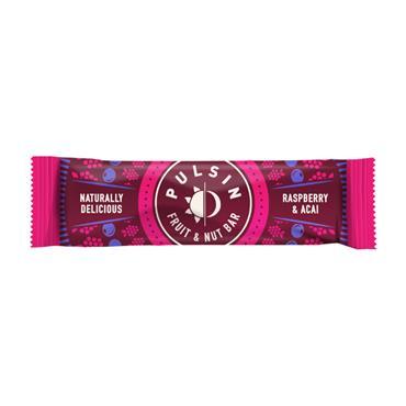 Pulsin Raspberry & Acai bar 35g