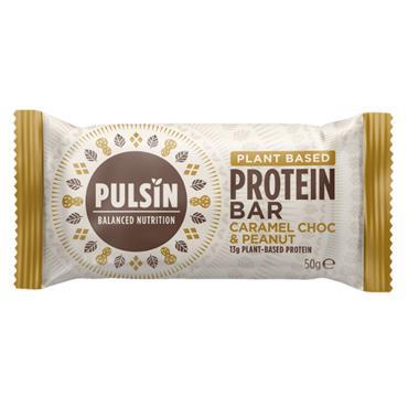Pulsin Caramel Chocolate Peanut Protein Snack Bar 50g