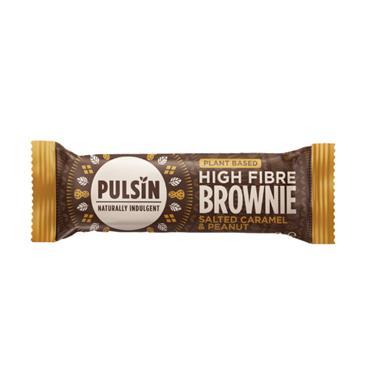 Pulsin Salted Caramel & Peanut High Fibre Brownie 35g